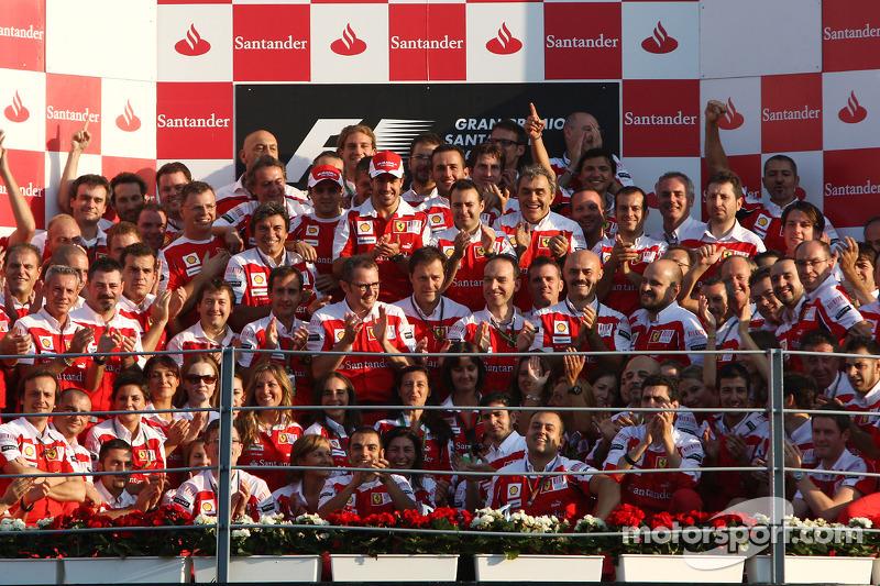 Triomphe devant les Tifosi à Monza en 2010!