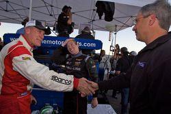 Andrew Hendricks en Charles Putman vieren feest. #48 Fall-Line Motorsports BMW M3 Coupe: Charles Esp