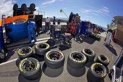 Les pneus sont prêts pour la course