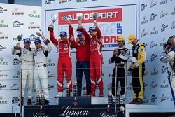 GT2 Podium van links: #75 Prospeed Competition Porsche 997 GT3 RSR: Marco Holzer, Richard Westbrook,