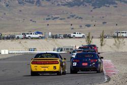 #5 TPN/Blackforest Racing Dodge Challenger: Ian James, Tom Nastasi, #9 Stevenson Motorsports Camaro