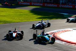 Robert Wickens leads Esteban Gutierrez and Nico Muller