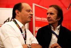 Frederic Vasseur y Emerson Fittipaldi