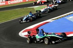 Robert Wickens leads Roberto Merhi and Mirko Bortolotti