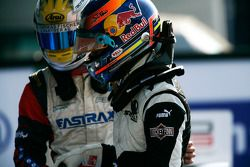 Robert Wickens and Nico Muller in parc ferme