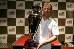 Guillaume Capietto from ART Grand Prix receives the prize for 1st overall in the Championship