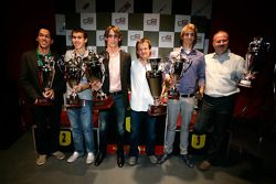 Esteban Gutierrez receives the prize for 1st overall in the Championship with Guillaume Capietto fro