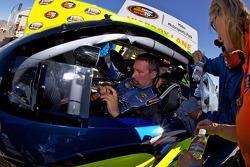 Race winner Greg Pursley in victory lane