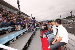 Roger Yasukawa, Conquest Racing, Takuma Sato, KV Racing Technology en Hideki Mutoh, Newman/Haas/Lani