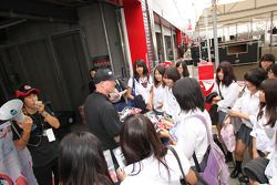 Paul Tracy, Dreyer & Reinbold Racing with fans