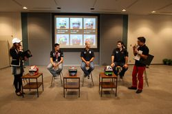 Alex Tagliani, FAZZT Race Team, Tony Kanaan, Andretti Autosport and Dario Franchitti, Target Chip Ga