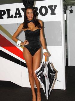 Una chica Playboy LCR Honda MotoGP