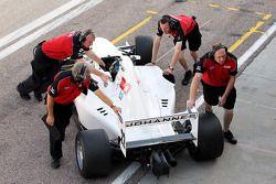 Johannes Theobald est rentré au garage pendant les essais libres