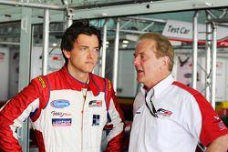 Jolyon Palmer avec son père Jonathan, PDG de MotorSport Vision