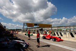 F2 activity in the pit lane