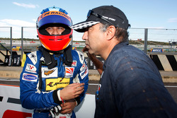 Armaan Ebrahim is congratulated on his third place on the grid for race 1