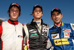 Qualifications 1 : 1er Nicola de Marco, 2e Benjamin Lariche, 3e Armaan Ebrahim