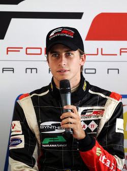 Race 1 pole sitter Nicola de Marco in the press conference