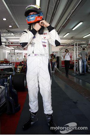 Dean Stoneman prepares for race one