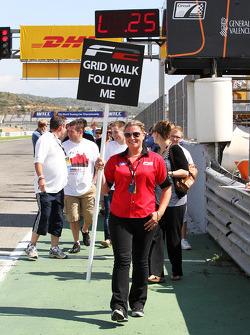 The F2 grid walk gets underway