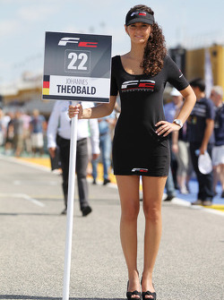 The grid girl for Johannes Theobald