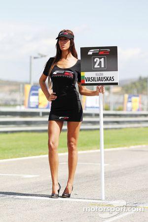 The grid girl for Kazim Vasiliauskas