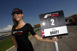 The grid girl for Will Bratt