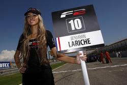 The grid girl for Benjamin Lariche