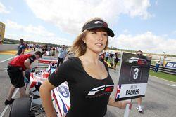 The grid girl for Jolyon Palmer