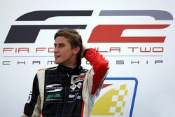 Race 1 winner Nicola de Marco on the podium