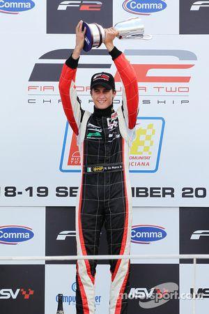 Race one winner Nicola de Marco on the podium