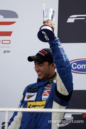 Armaan Ebrahim finished race 1 in third place