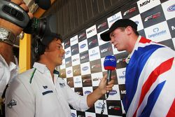 2010 Formula Two Champion Dean Stoneman is interviewed by Eurosport