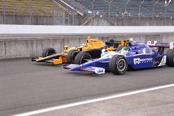 Simona De Silvestro, HVM Racing and Paul Tracy, Dreyer & Reinbold Racing