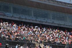 Les fans regardent les essais