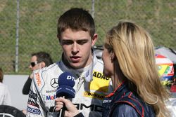 Paul di Resta, Team HWA AMG Mercedes C-Klasse, donne une interview
