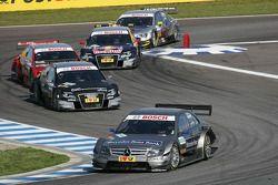 Bruno Spengler, Team HWA AMG Mercedes C-Klasse, Timo Scheider, Audi Sport Team Abt Audi A4 DTM, Mike Rockenfeller, Audi Sport Team Phoenix Audi A4 DTM et Mattias Ekström, Audi Sport Team Abt Audi A4 DTM