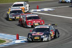 Mattias Ekström, Audi Sport Team Abt Audi A4 DTM, Mike Rockenfeller, Audi Sport Team Phoenix Audi A4 DTM, Martin Tomczyk, Audi Sport Team Abt Audi A4 DTM