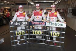 100e course de Timo Scheider, Audi Sport Team Abt Audi A4 DTM, Martin Tomczyk, Audi Sport Team Abt A