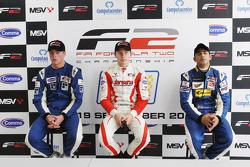 Qualifying 2 results: pole winner Kazim Vasiliauskas, 2nd Jack Clarke, 3rd Armaan Ebrahim