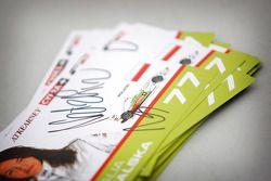 Cartes d'autographe de Natalia Kowalska