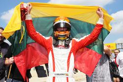 Race winnaar Kazim Vasiliauskas