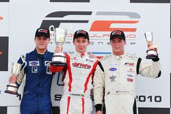 Race podium: race winner Kazim Vasiliauskas, second place Jack Clarke, third place Dean Stoneman