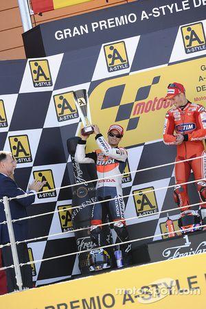 Подиум: второе место - Дани Педроса, Repsol Honda Team