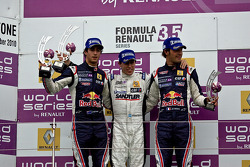 Jean-Eric Vergne, Esteban Guerrieri e Daniel Ricciardo