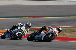 Marco Melandri, San Carlo Honda Gresini en Randy De Puniet, LCR Honda MotoGP