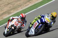 Valentino Rossi, Fiat Yamaha Team y Marco Simoncelli, San Carlo Honda Gresini