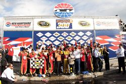 Victory lane: race winner Clint Bowyer, Richard Childress Racing Chevrolet celebrates