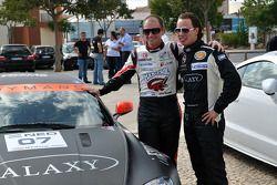 GT1 World en Superleague Formula demonstratie: Xavier Maassen en GT4 rijder Paul Meijer