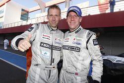 Qualifying race winner Michael Krumm and Peter Dumbreck